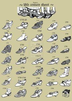 18th Century Shoes Via
