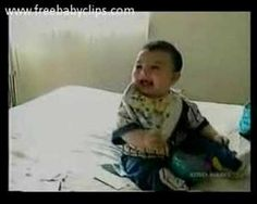 Laughing Baby Falls Over From Laughing.hahahah