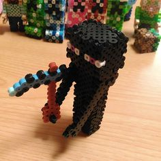 Enderman Minecraft perler beads by shena_1983