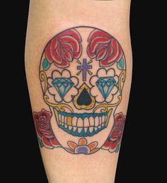 Caveira Mexicana por Chris Santos (@calavera_tattoo)