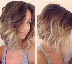 Ash Blonde Ombre Long Bob @queenvee1