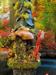 "Ƹ̵̡Ӝ̵̨̄ƷThis miniature rustic fairy house collectible is from my ""Villagers"" series in my Woodland Fairy Village collection©. Name: ""Fauselto Cottage"" £22.86"