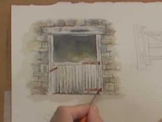 Watercolor Painting Lesson - Wood, Metal & Rust by delores Watercolor Video, Watercolour Tutorials, Watercolor Techniques, Painting Techniques, Watercolor Paintings, Watercolors, Painting Videos, Painting Lessons, Art Lessons