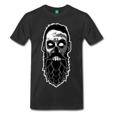 Beer Zombies Hop Bearded Zombie shirt