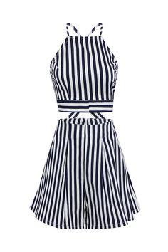 Nautical Stripe Shorts Co-ord Sets