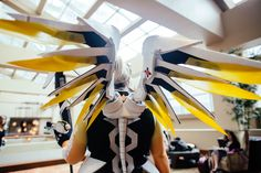 Mercy, Overwatch, Overwatch Cosplay, Cosplay Wings, Plus Size Cosplay, Curvy Cosplayer Characters come out to play at the Sheraton Dallas Hotel on Saturday, August 13, 2016. It was a four day festival. All photos by Kathy Tran.
