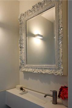 Mega barok wandspiegel met groten ornamenten antiekgoud in for Barok spiegel groot