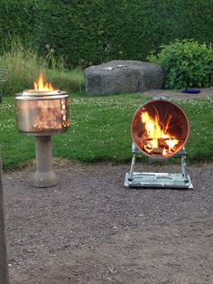 Fire pits from outer and inner drum from a washing machine