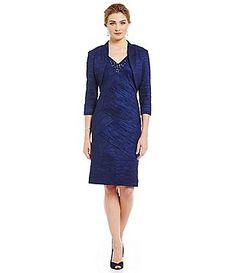 Jessica Howard Bolero Jacket Sheath Dress