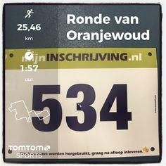 Ronde van Oranjewoud in Heerenveen. 26 km in 1:57:27.