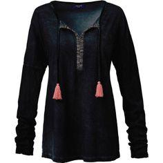 Langarmshirt mit Ethnostickerei | Langarmshirts | Shirts | Damen | Impressionen DE