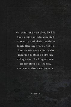 INTJ - Dead on
