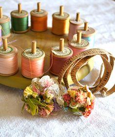 Vintage Thread Holder Spinner by swanandshears on Etsy, $15.99