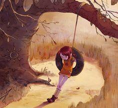 """captainaurelieneyret:  Une illustration inédite de notre Cerise, réalisée spécialement pour l'artbook """"Les Filles de Soleil / 25 ans"""". Le li..."""