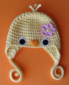 cute crochet baby bird hat