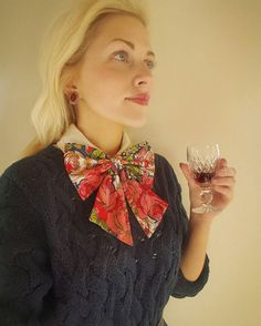 Christmas Bows, Bowties, Ascot, Ruffle Blouse, Trending Outfits, Unique Jewelry, Handmade Gifts, Awesome, Red
