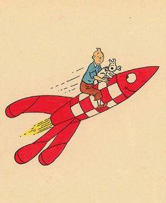 Tintin to the moon