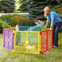 Play Yard Superyard 6-Panel Portable Lightweight Indoor Outdoor Multi Colored #NorthStates