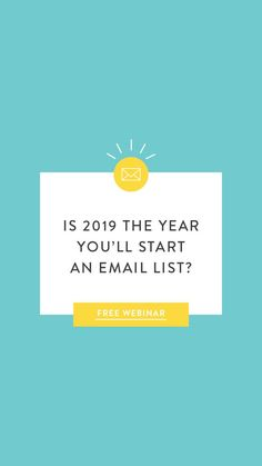 Is starting an email list on your list of 2019 goals? You're in luck, Jenna Kutcher is teaching a free masterclass all about email marketing and will walk you through what to say, when to say it - the how to guide to email lists. Save your seat! Business Tips, Online Business, What Is Marketing, Email Marketing Services, Email List, Writing Tips, Youtube Hacks, Goals, Teaching