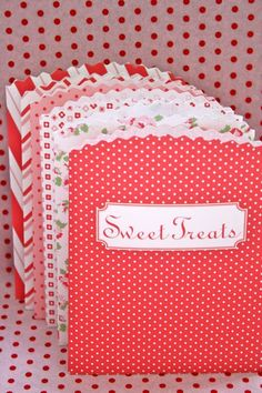 Treat bags.  Free printable. :-)