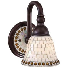 """Piastrella Collection 9 1/2"""" High Mosaic Glass Wall Sconce - #12340 