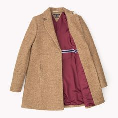 Tommy Hilfiger Yvana Wool Coat - classic camel/ multi (Brown) - Tommy Hilfiger Clothing - detail image 4