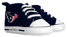 Baby Fanatic Size 0-6M NFL Houston Texans High Top Pre-Walkers in Red/Blue