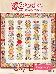 Quilt Pattern DOMINO Moda MISS ROSIE/'S SCHNIBBLES Charm Pack Friendly