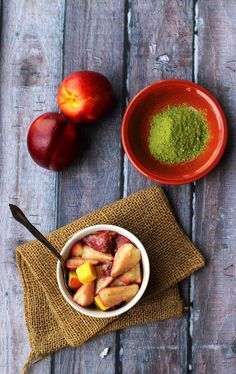 YUM! Nothing makes a fruit salad better than a tangy dressing. Summer Fruit Salad with Matcha Ginger Vinaigrette