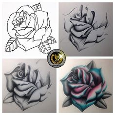 Here's a little peak into the process of that #rose #drawing from the shop #apprentice @cali_bound_cory23  This dude is going to be relentless when he gets behind a #tattoomachine ... Until then keep up the good work dog #caliboundcori #tg™ #trumpgang™ #practicemakesperfect #sketch #drawing #patience #workhard #havefun #dowhatyoulove #getpaidforit ✌️