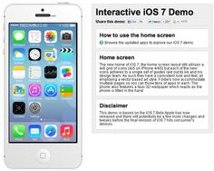 Take the iOS 7 interactive demo ride on your web browser