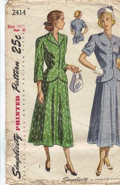 1940's Women's Dress and Jacket