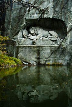 """touchdisky: """" Lion Monument, Lucerne, Switzerland by roKin14 """""""