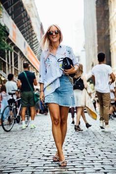 falda vaquera camisa xl
