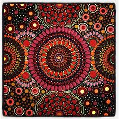 I'm in love with aboriginal dot art!