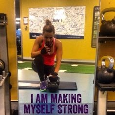 'I am making myself strong' is today's training mantra. How will you move your body this morning