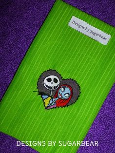 NIGHTMARE BEFORE CHRISTMAS Jack and Sally Skellington Custom Embroidered Towel Designs by Sugarbear - Beautiful  Detailed  Boutique Quality on Etsy, $10.99