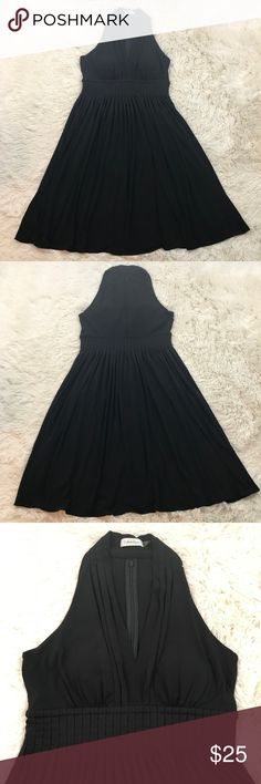 Calvin Klein Little Black Dress Jersey A-Line Calvin Klein Womens 10 Little Black Dress Jersey Sleeveless A-Line Full Skirt. Gently Used, Minimal Wear, Please See Pictures For Measurements and Details. Calvin Klein Dresses