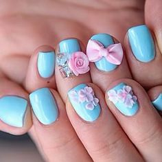 Bow and flower nails