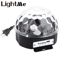 New 10 - 25W 6 LEDs RGB Premium Sound Control Stage Light RGB LED Magic Crystal Ball Lamp Disco Light Laser Wedding Party Lamp #Affiliate
