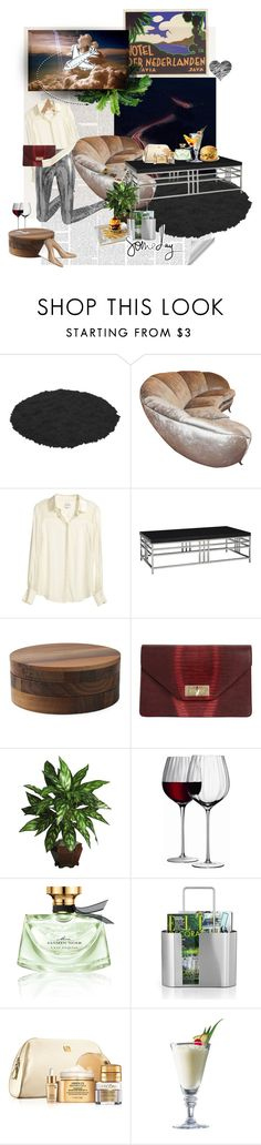 """""""cold black cloud"""" by pontiac-heaven ❤ liked on Polyvore featuring Maison Margiela, Reiss, Andrew Martin, e15, Givenchy, Nearly Natural, LSA International, Bulgari, blomus and Lancôme"""