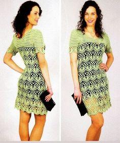Tecendo Artes em Crochet: Três  Vestidos Lindos!