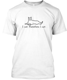 For The Cat Lover In You. White T-Shirt Front