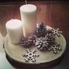 Christmas decor -wood - filtered photo
