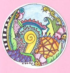 Doodle in the round with color