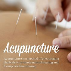 Acupuncture is an alternative medicine methodology originating in ancient China that treats patients by manipulating thin, solid needles that have been inserted into acupuncture points in the skin. According to Traditional Chinese medicine, stimulating these points can correct imbalances in the flow of qi through channels known as meridians.