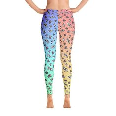 1f89895352 Rainbow Cow Leggings, Unicorn, Bright Colors, Yoga Gear, Ladies Athletic,  Workout Wear, Cow Lover Gift, Colorful