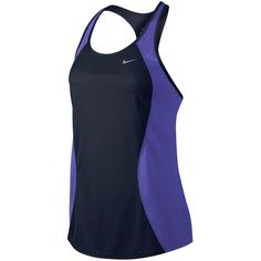 Nike Racer Tank Top Blue ($28) ❤ liked on Polyvore featuring activewear, activewear tops, nike sportswear, nike activewear y nike