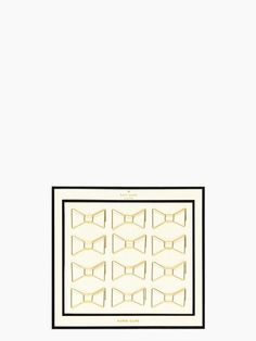 gold bow paper clips | Kate Spade