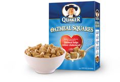 Quaker Oatmeal Squares with fresh strawberries!